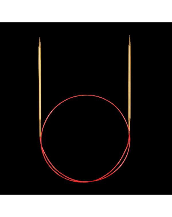 Круговые спицы ADDI LACE (золотистое покрытие)